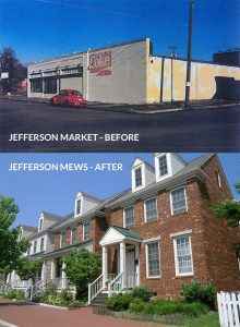 Image: Jefferson Mews before and after