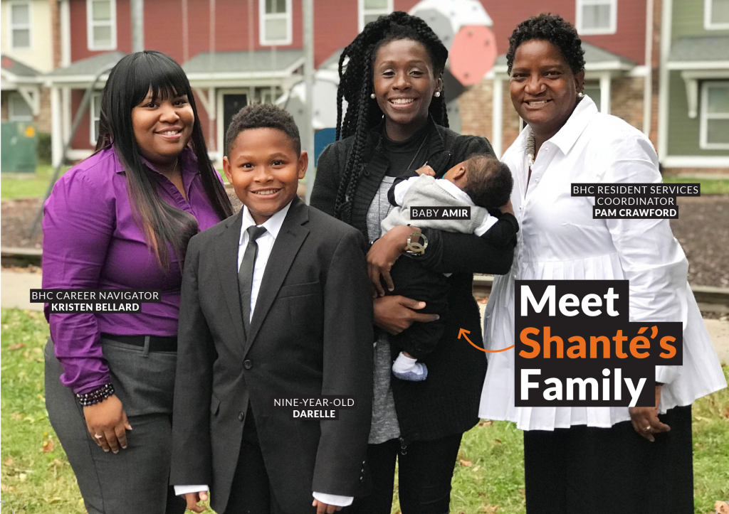 Image: Shante Williams and family