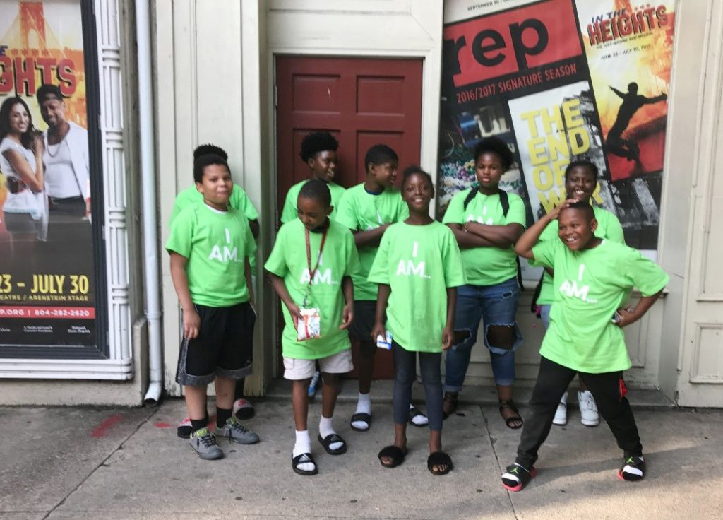 Image: Darelle and friends visit Virginia Rep